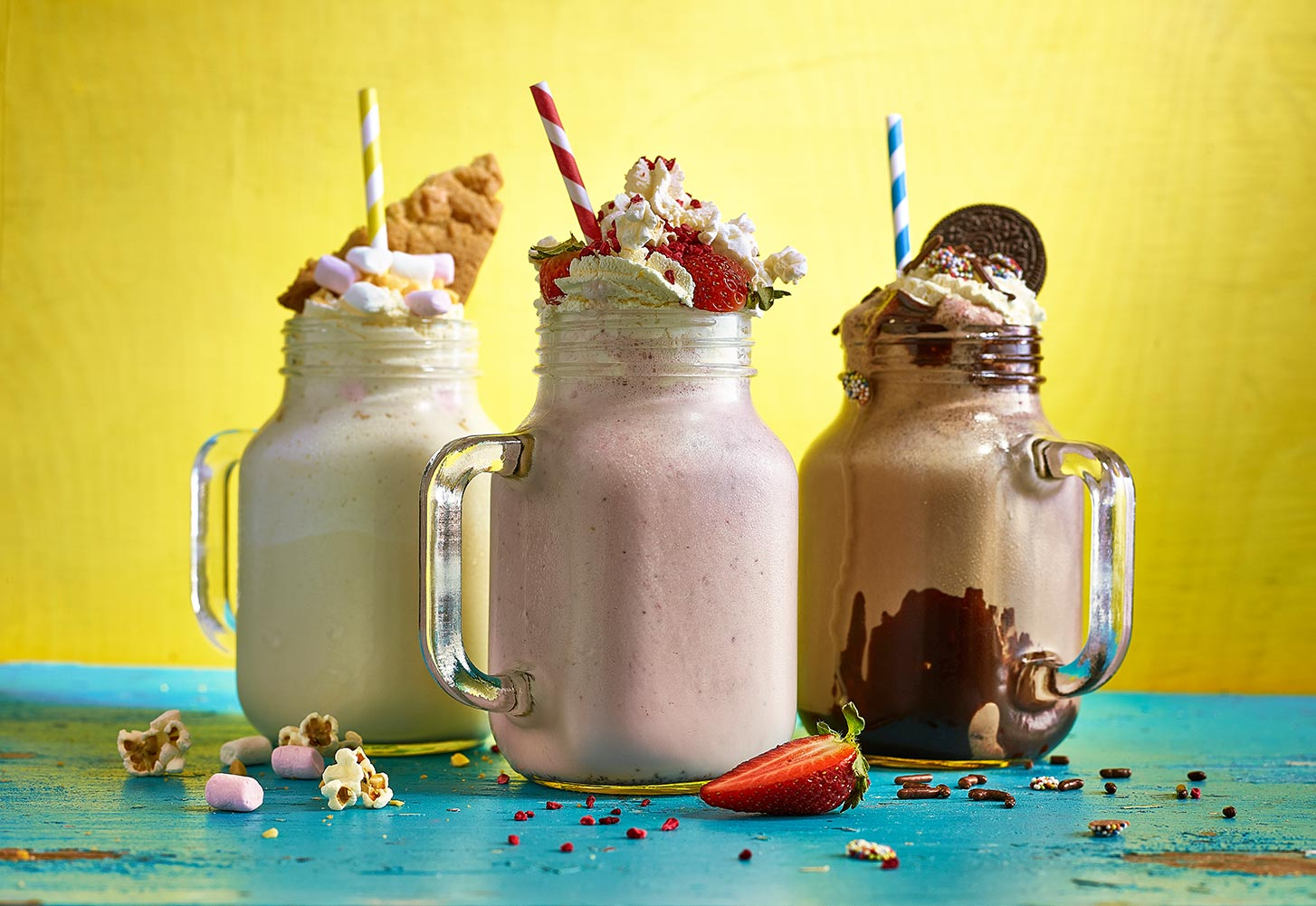 Shaken Not Stirred! Milkshakes in a Jar...