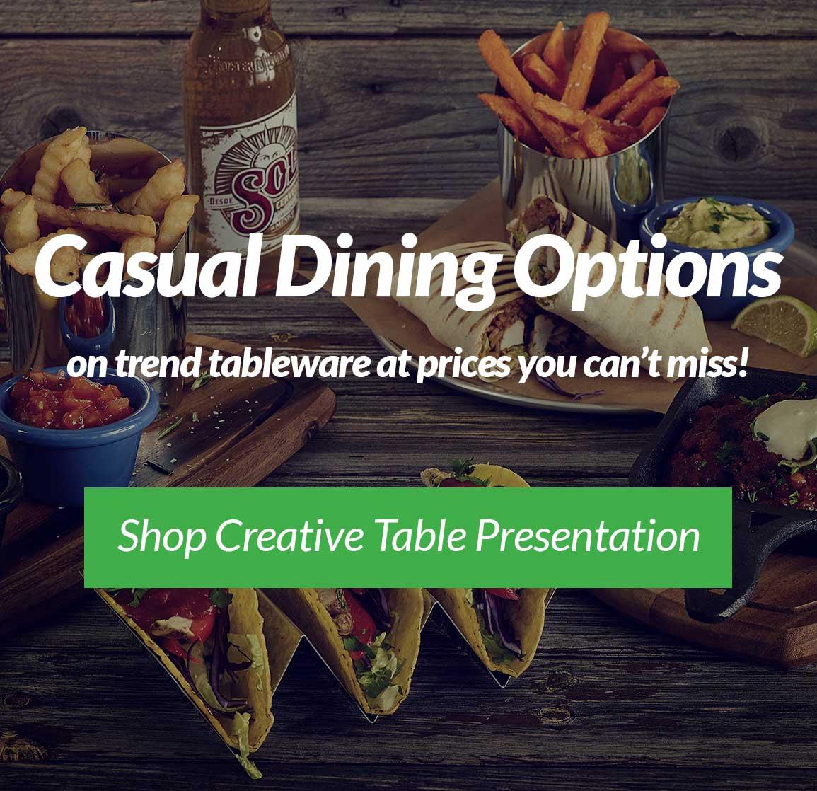 Creative Table Presentation