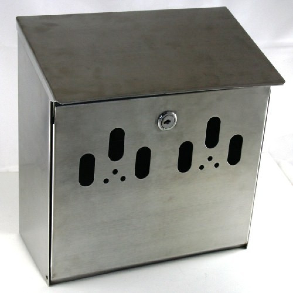 Genware Stainless Steel Outdoor Ashtray - wall mounted