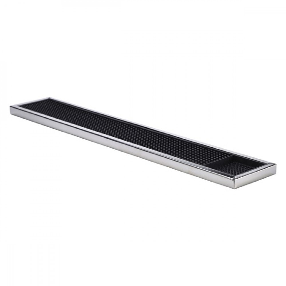 Berties Stainless Steel Framed Bar Mat 60.5x10x1.6cm