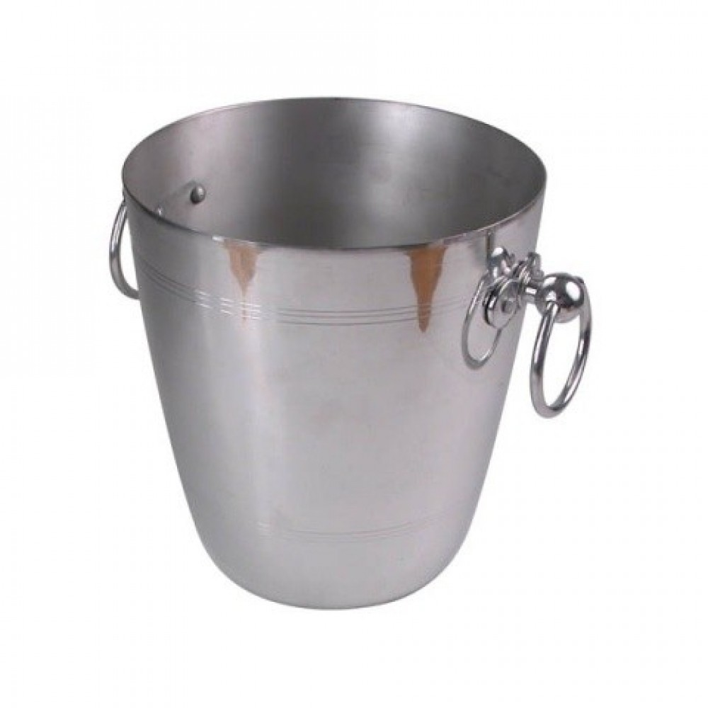 Genware Wine Bucket Polished Aluminium 195x210mm
