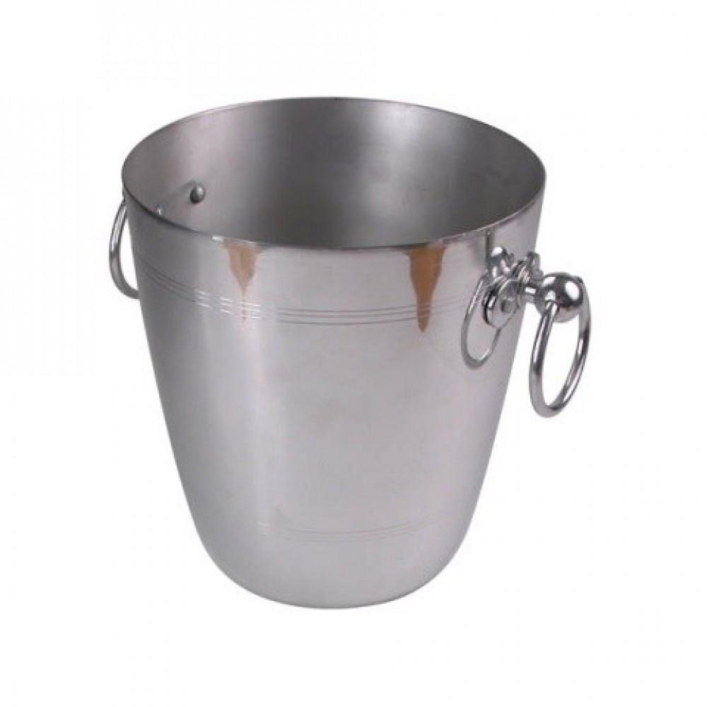Genware Wine Bucket Polished Aluminium 195x210mm