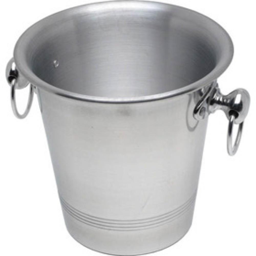 Genware Champagne Bucket Alum + Ring Handles 200x190mm
