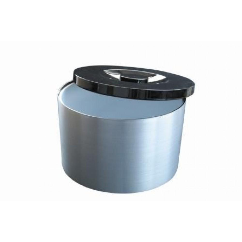 Berties Ice Bucket Round Brushed Aluminium effect 10L