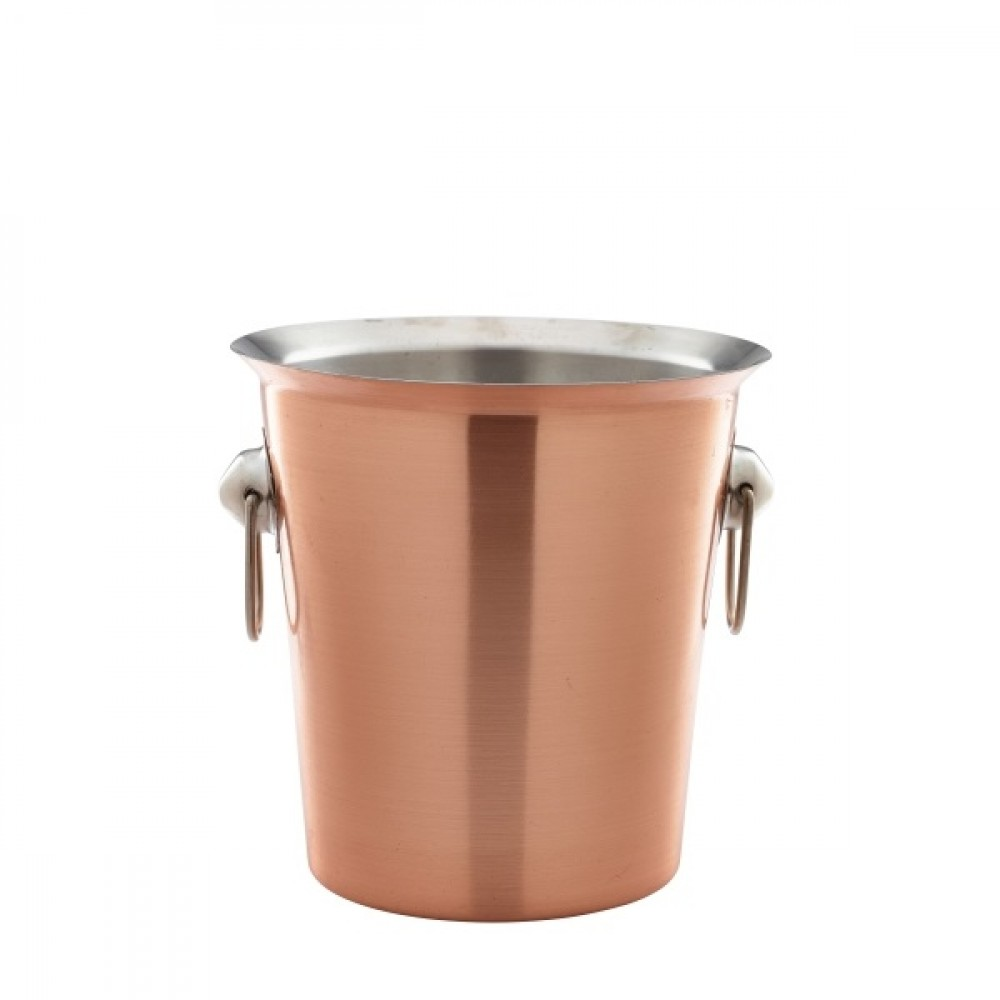 Genware Copper Wine Bucket With Ring Handles 4L 18.5x19cm