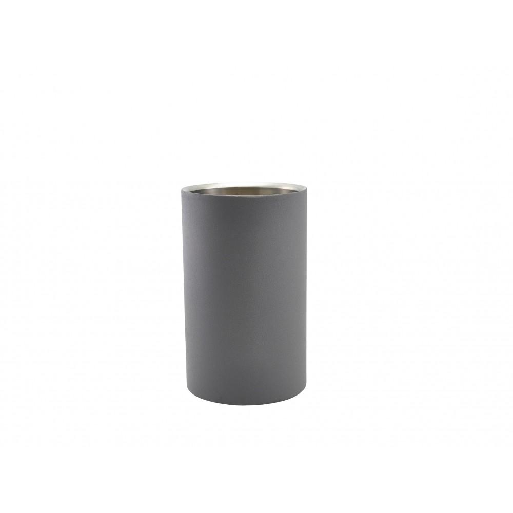 Genware Stainless Steel Wine Cooler Iron Effect 12x20cm