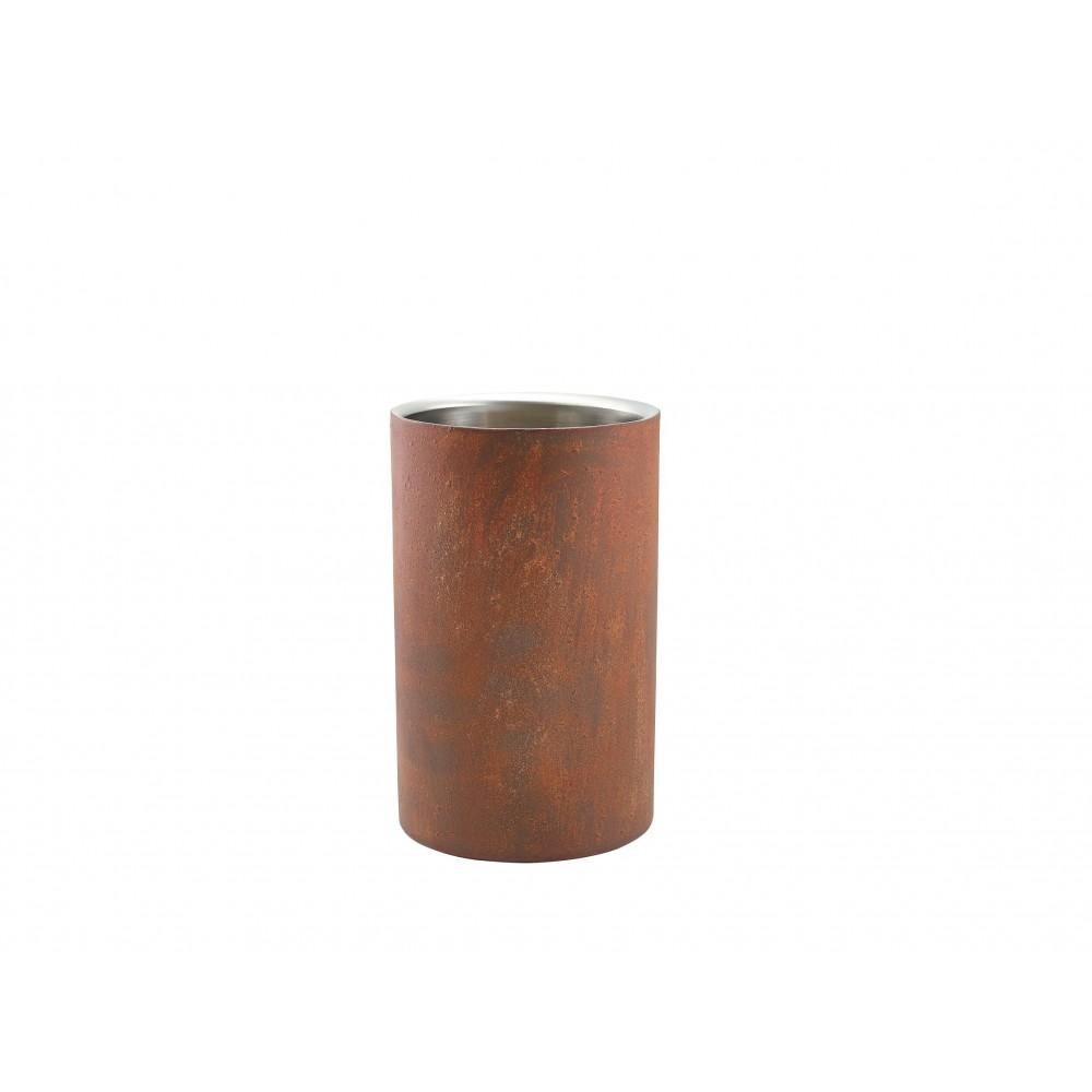 Genware Stainless Steel Wine Cooler Rust Effect 12x20cm