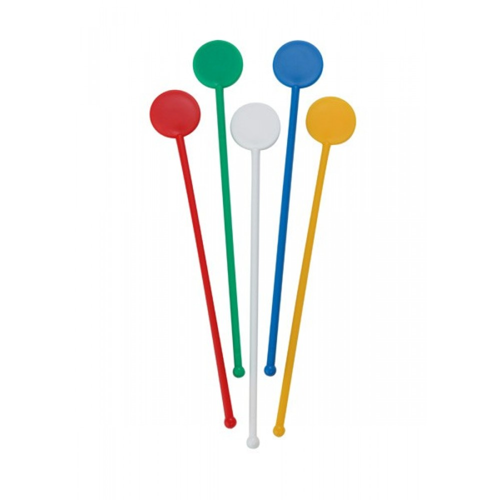 Berties Cocktail Disc Stirrer Coloured 7""
