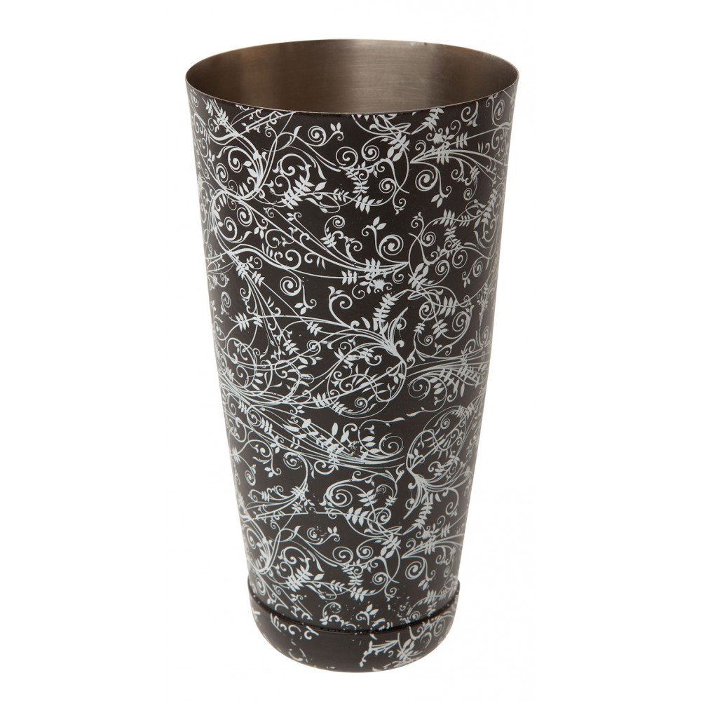 Mezclar Black Floral Boston Can 28oz