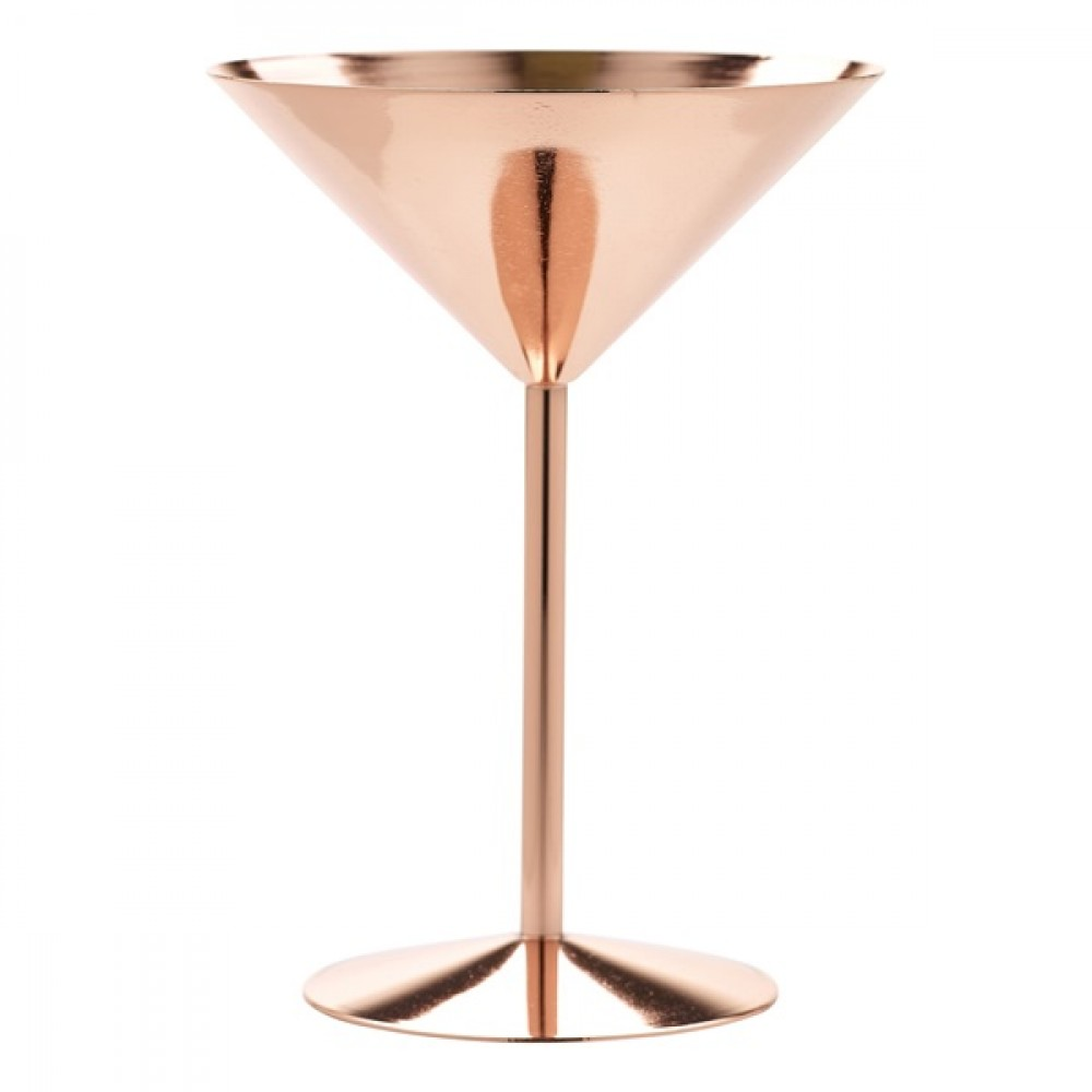 Berties Copper Martini Glass 24cl/8.5oz