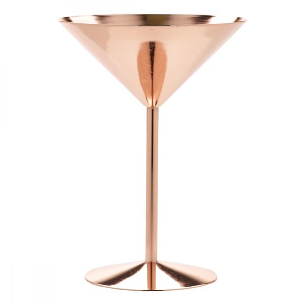 Berties Copper Martini Glass 24cl/8.5oz