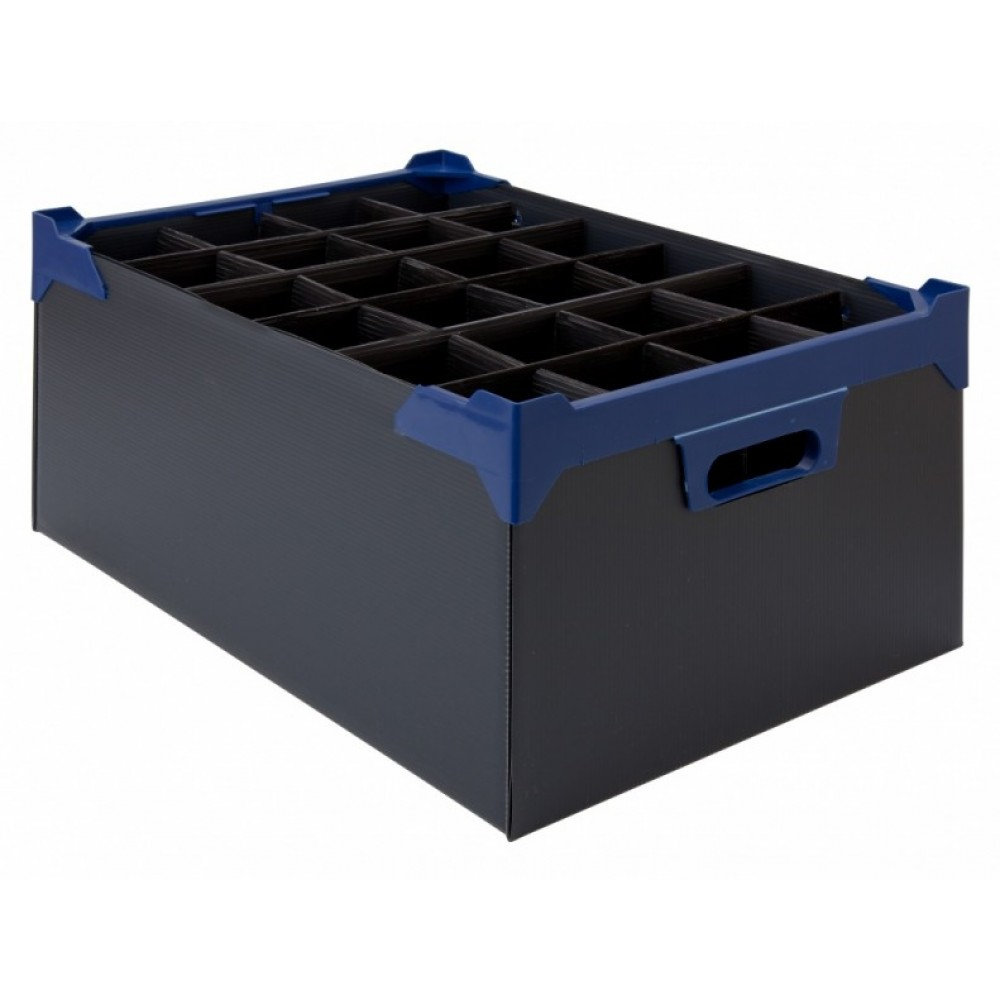 Berties Glass Storage Box 24 Slot 12oz