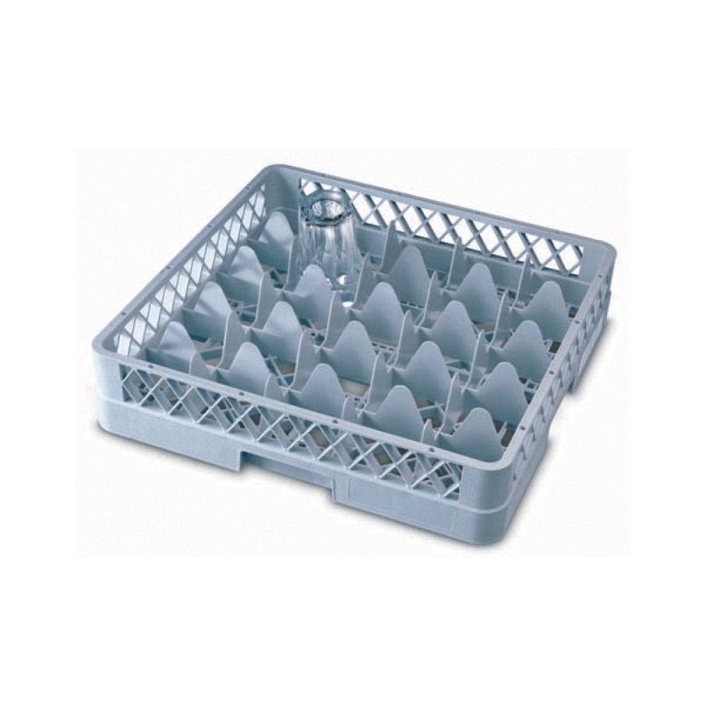 Genware Glass Base Rack 25 Compartment