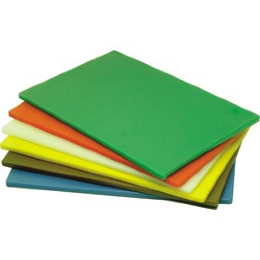 Genware Yellow High Density Chopping Board 450x300x12.5mm