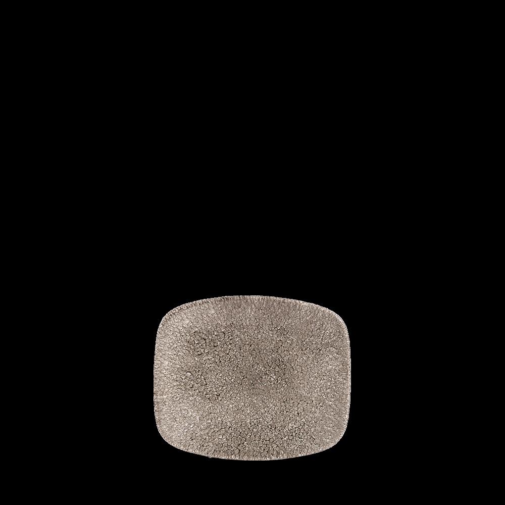 """Churchill Studio Prints Raku Chef's Plate No.5 Quartz Black 15.4x12.6cm-6.1x5"""""""