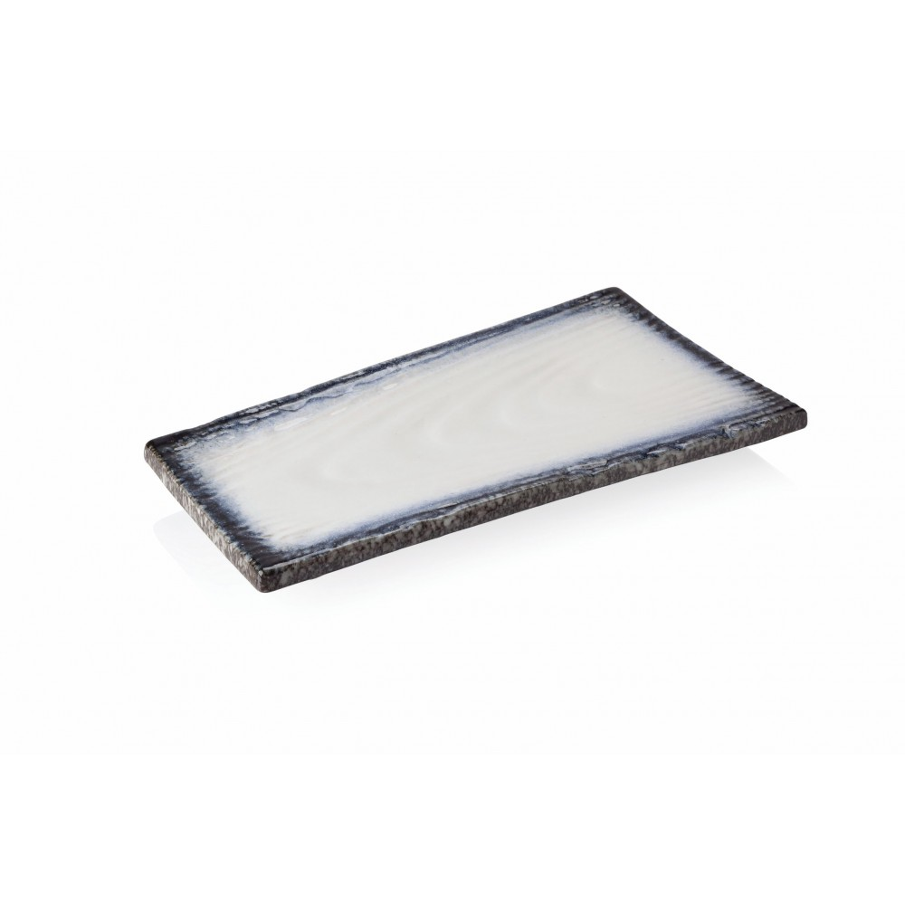 "Heritage Stoneware Strata Shoreline Sushi Plate 28cm-11"""