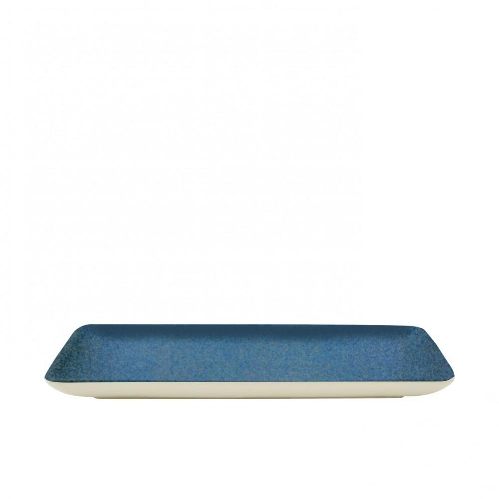 "Sango Java Rectangular Plate Horizon Blue 21x8cm-8.3x3"""