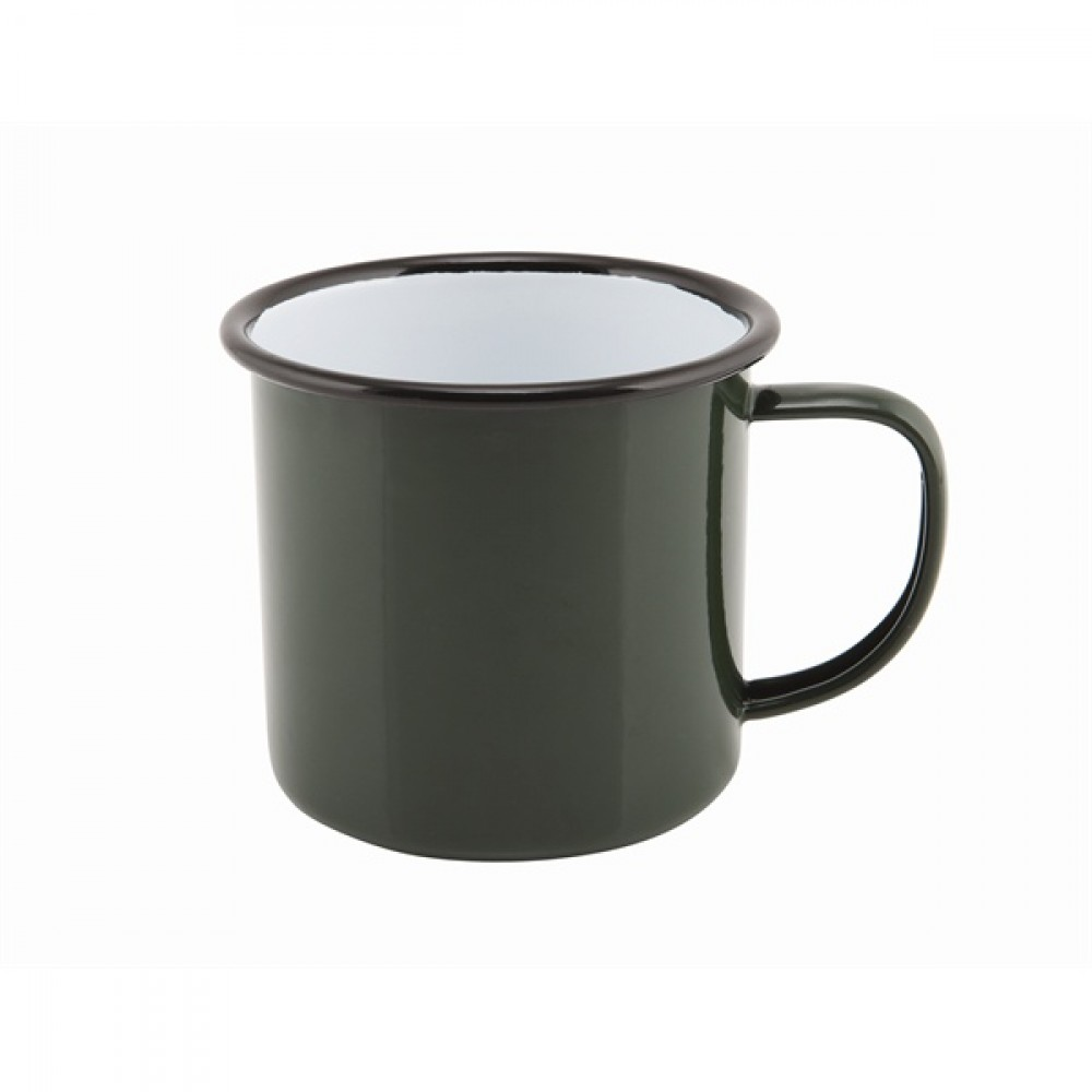 Berties Enamel Mug Green 36cl-12.5oz