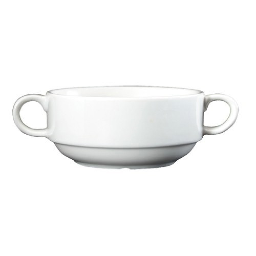 Genware Fine China Lugged Soup Bowl 30cl/10.6oz