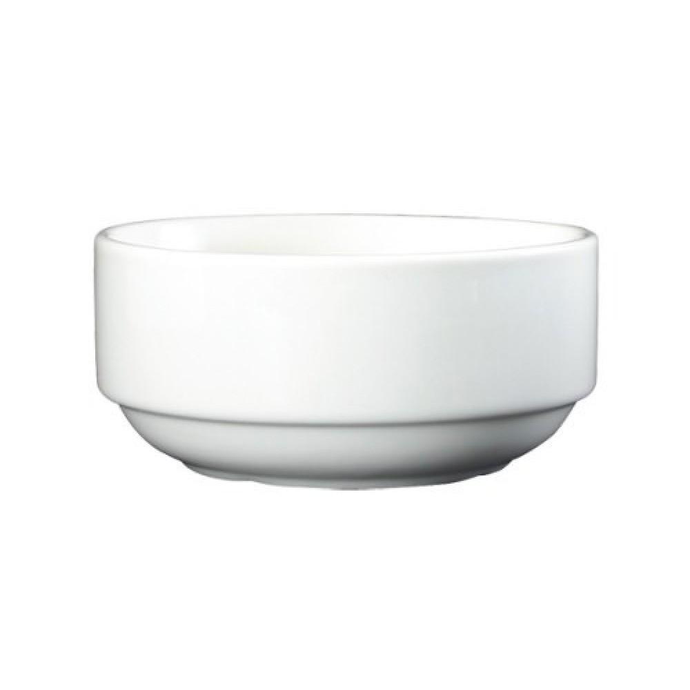 Genware Fine China Un-Lugged Soup Bowl 30cl/10.6oz