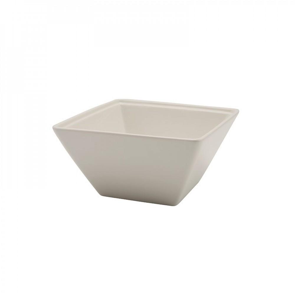 Genware Fine China Square Bowl 8cl/2.75oz