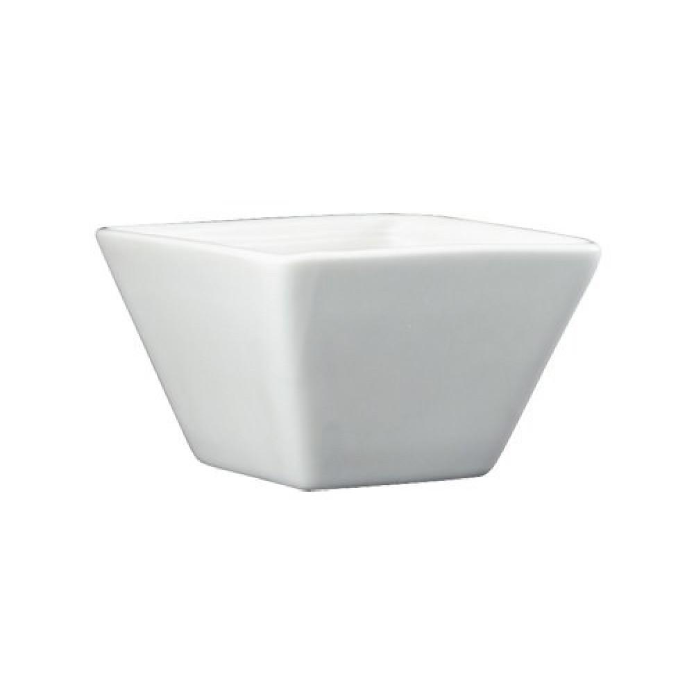 Genware Fine China Square Bowl 15cl/5.3oz