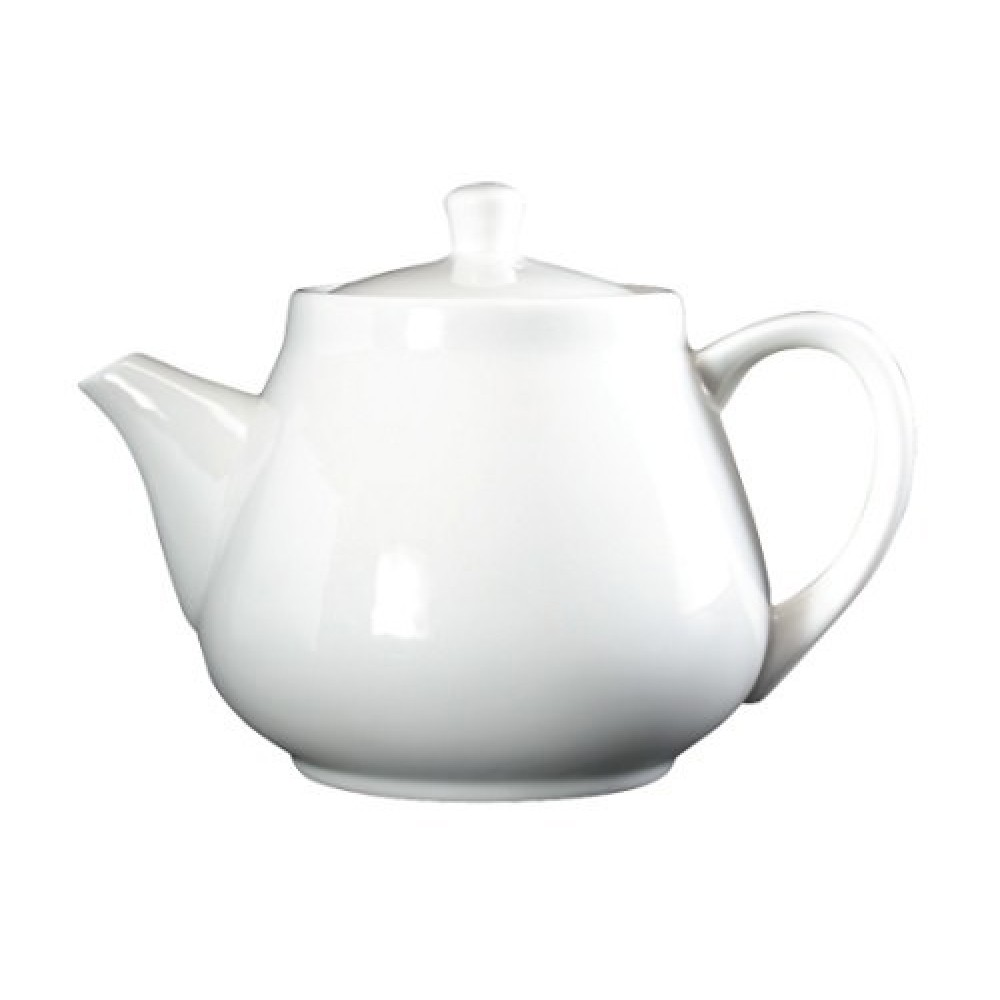 Genware Fine China Traditional Teapot 45cl/16oz