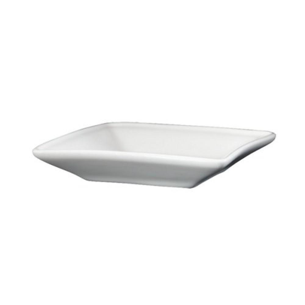 "Genware Fine China Square Dipping Dish 9cm/3.75"""