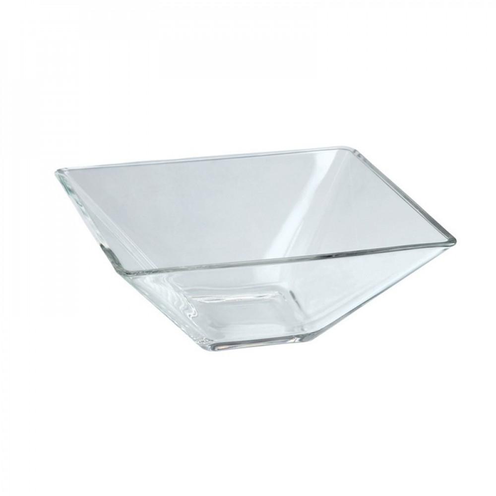 Berties Glass Square Bowl 14x7cm