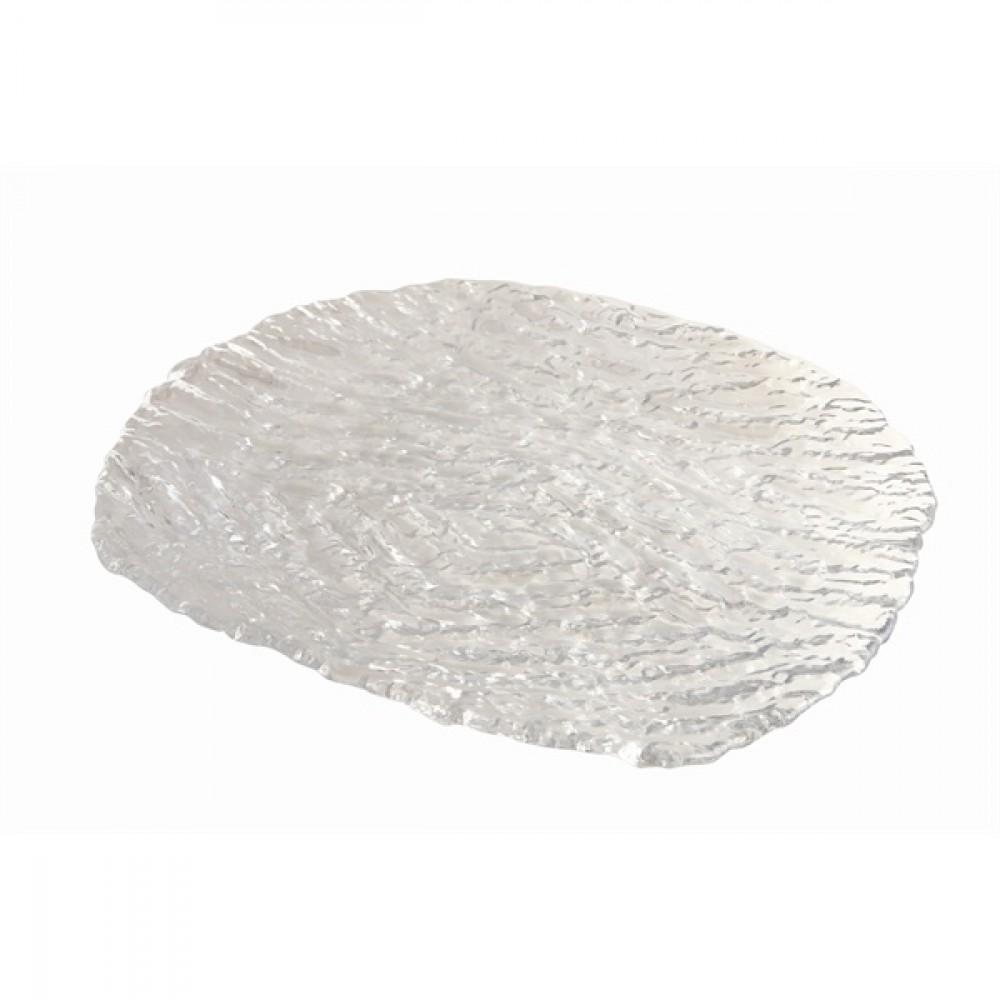 Berties Glacier Glass Plate 29x27cm