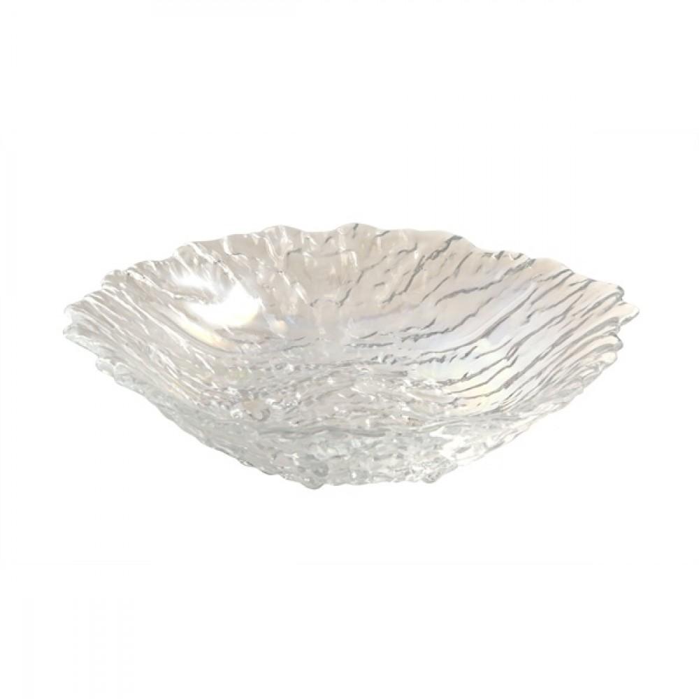 "Berties Glacier Glass Salad Bowl 25cm/9.8"""