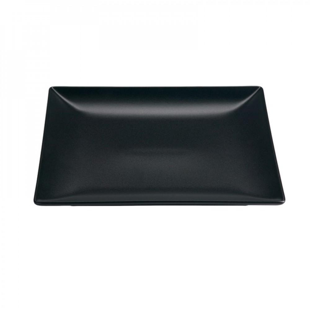 """Genware Luna Black Square Plate 26cm-10.25"""""""