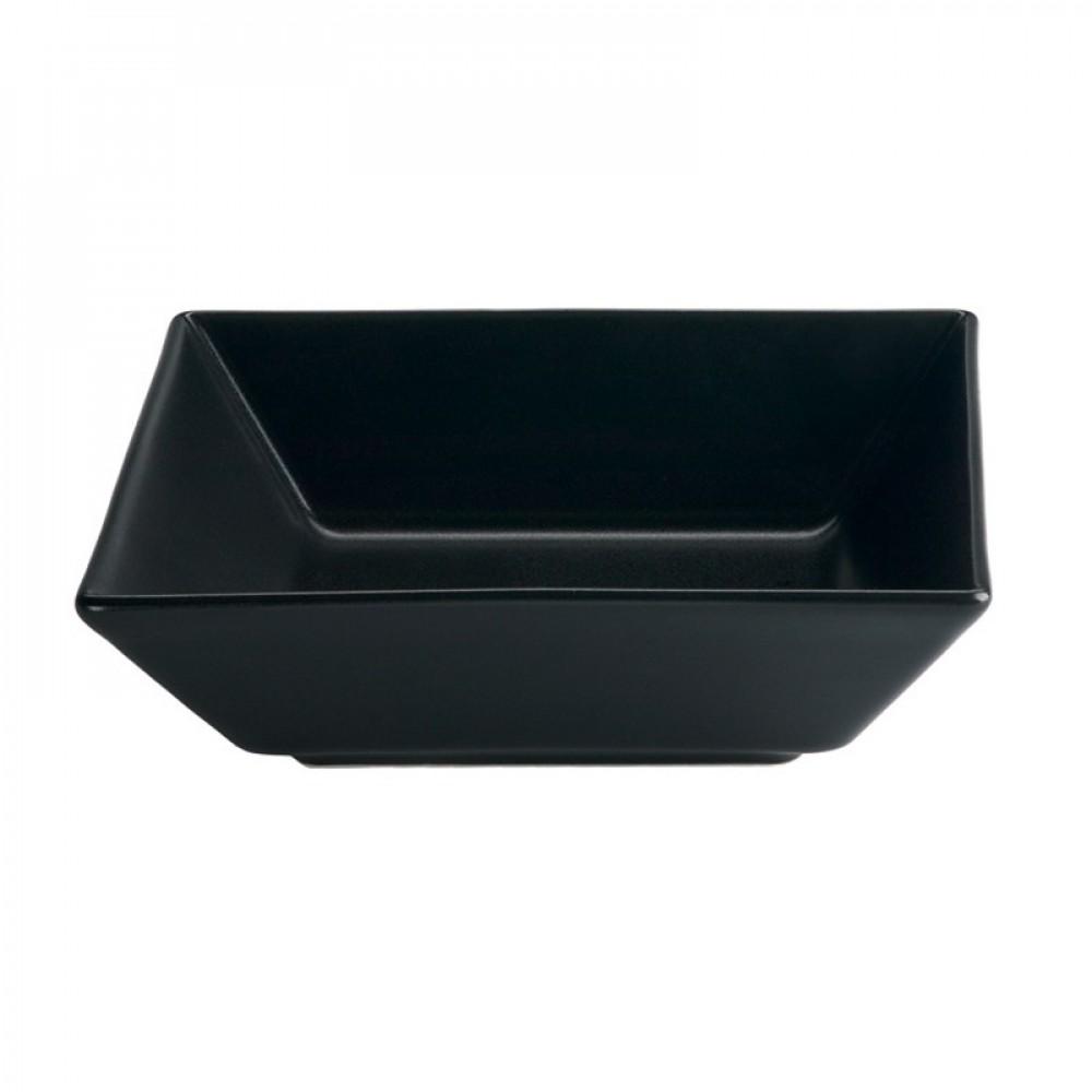 "Genware Luna Black Square Bowl 17.5x5cm-7x2"""