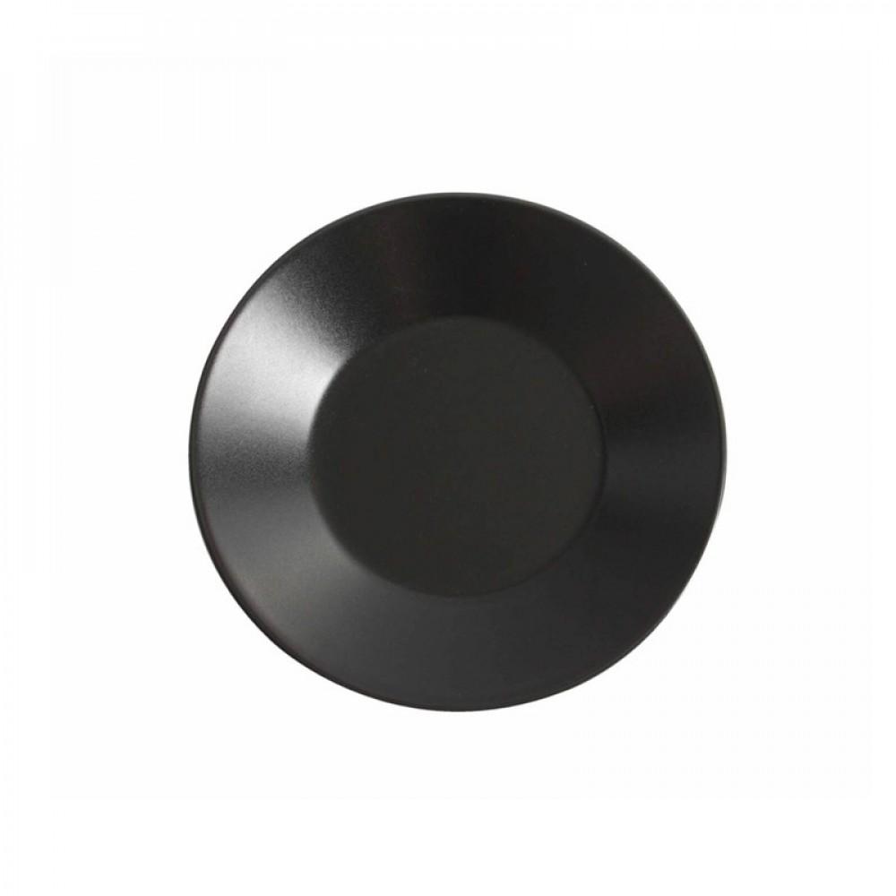 "Genware Luna Black Wide Rim Plate 21cm-8.2"""