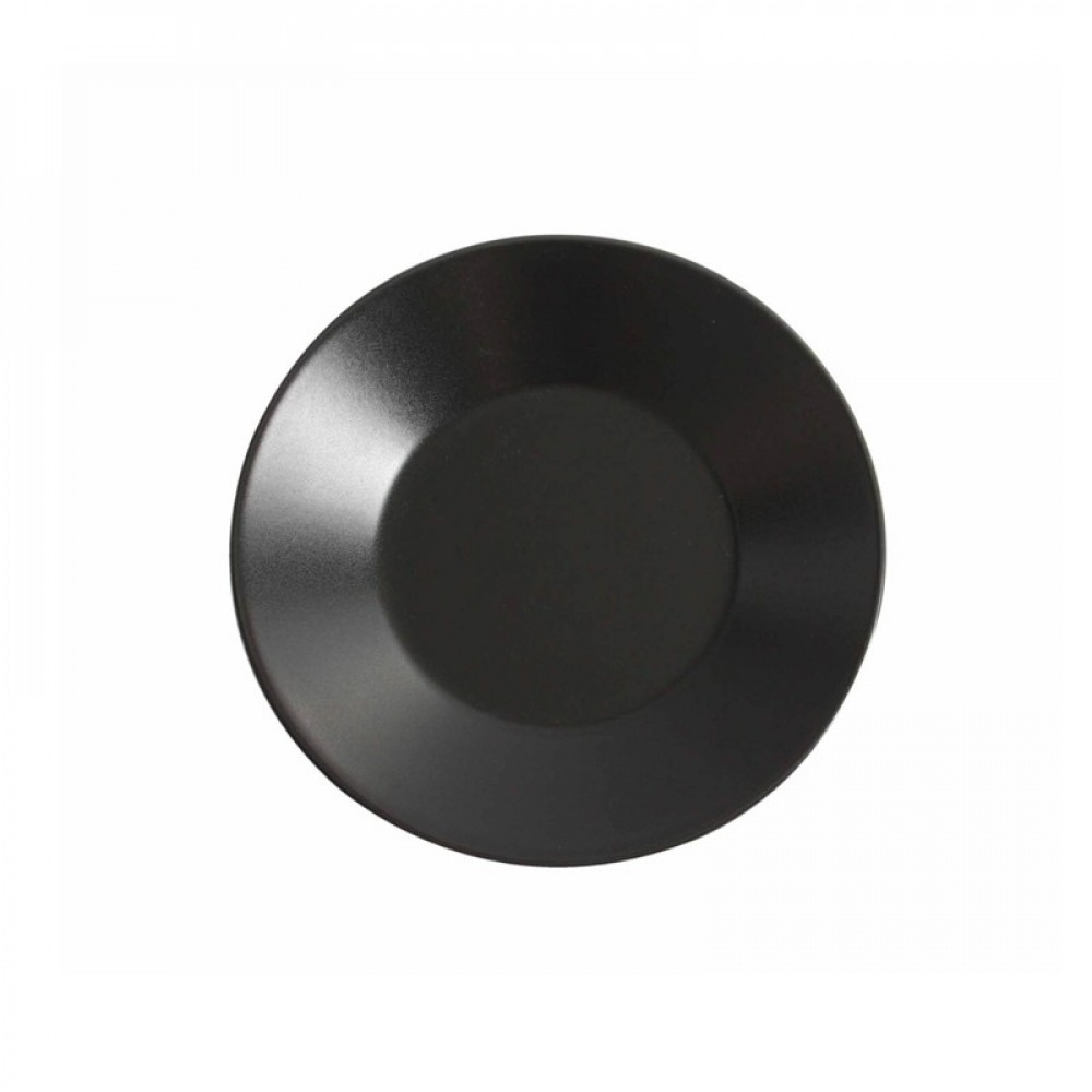 "Genware Luna Black Wide Rim Plate 27.5cm-11"""