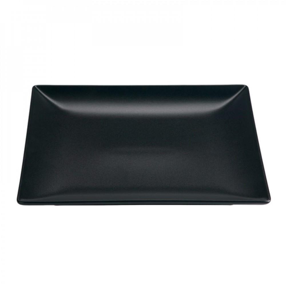 """Genware Luna Black Square Plate 21cm-8.25"""""""
