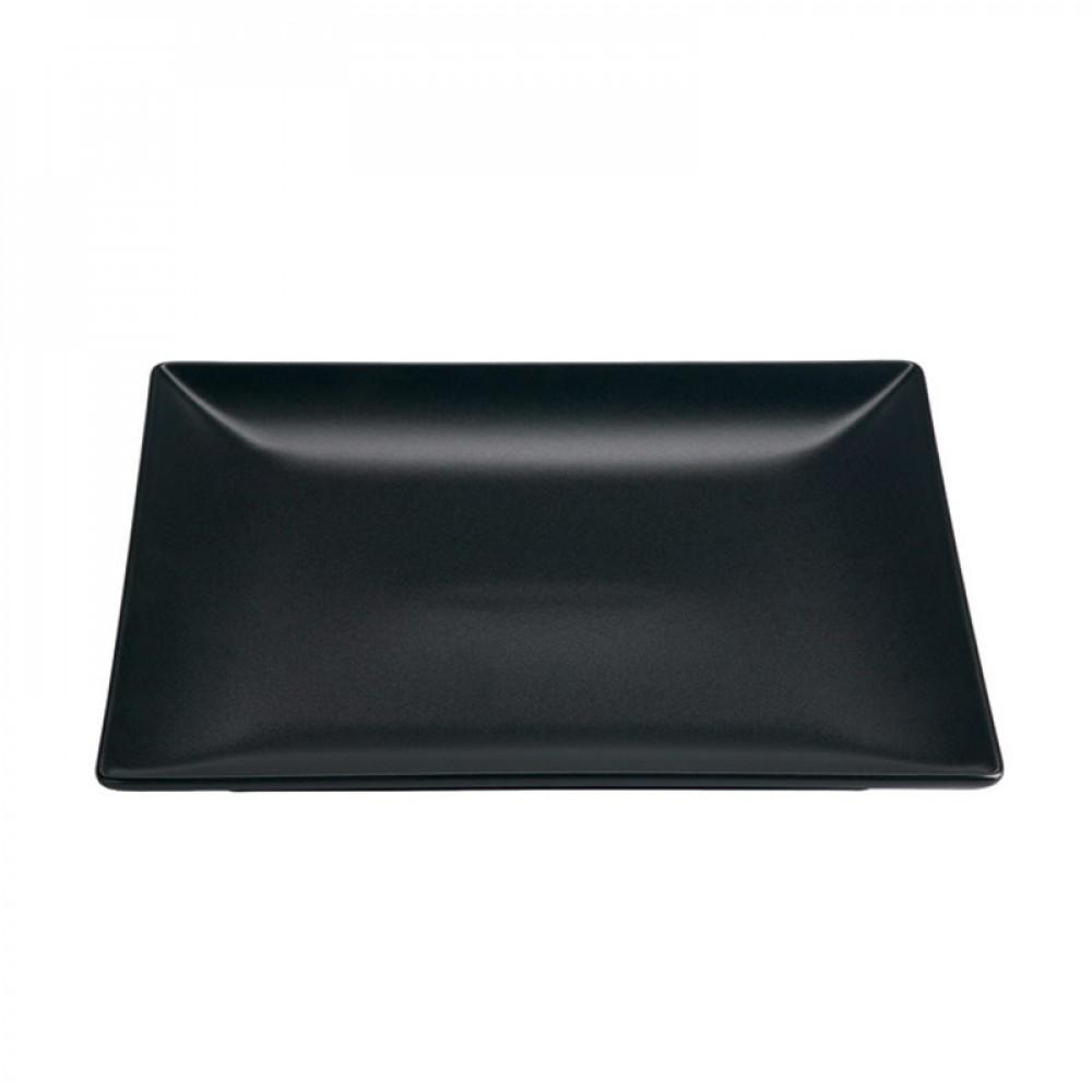 """Genware Luna Black Square Plate 24cm-9.5"""""""