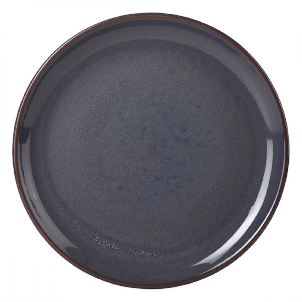 "Terra Stoneware Coupe Plate Blue 19cm-7.5"""
