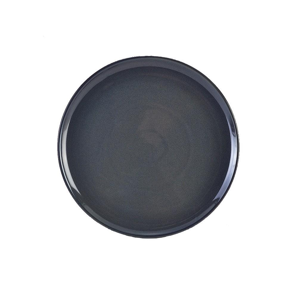 "Terra Stoneware Rustic Pizza Plate Blue 33.5cm-13.25"""