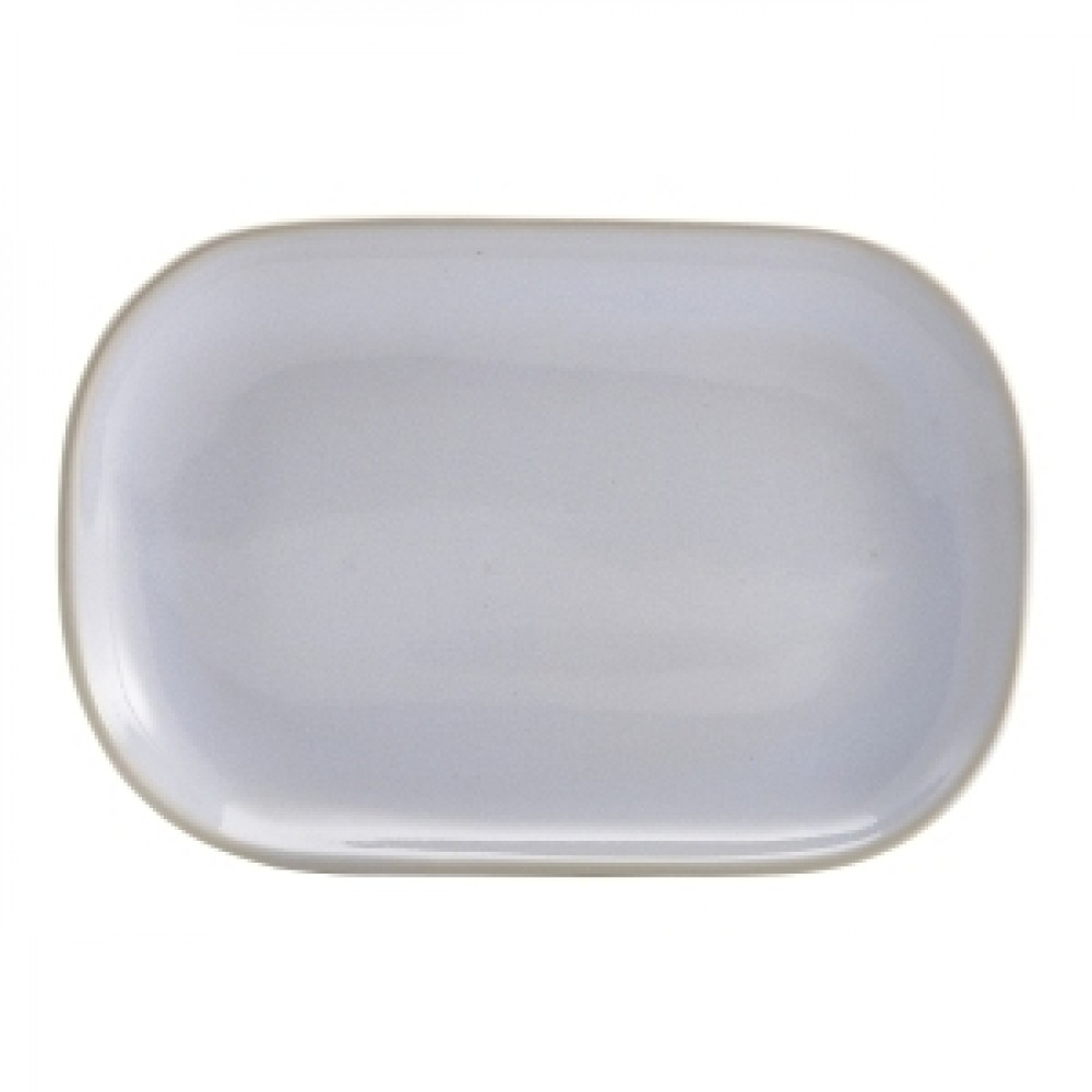 Terra Stoneware Rectangular Plate White 24x16.5cm