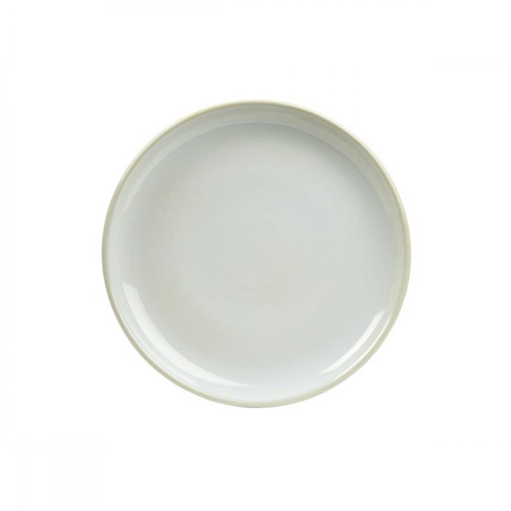 """Terra Stoneware Coupe Plate White 24cm-9.5"""""""