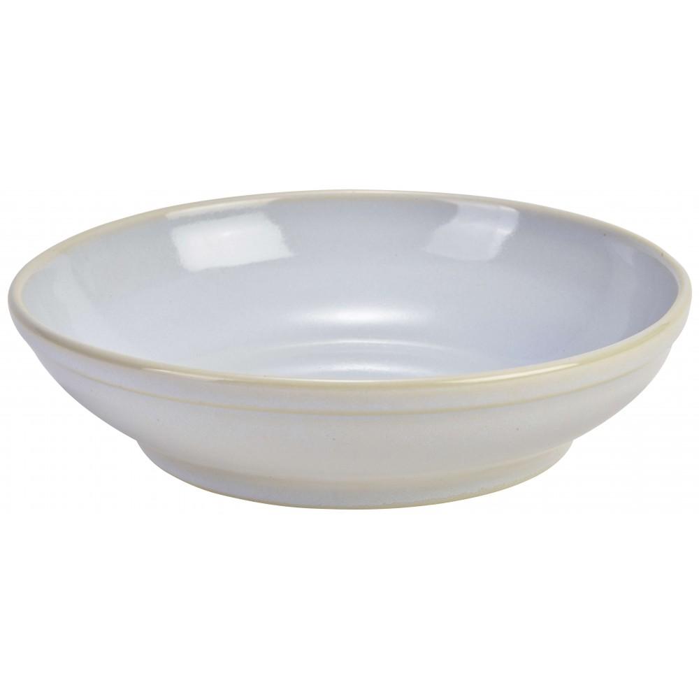 """Terra Stoneware Rustic Coupe Bowl White 23cm-9"""""""