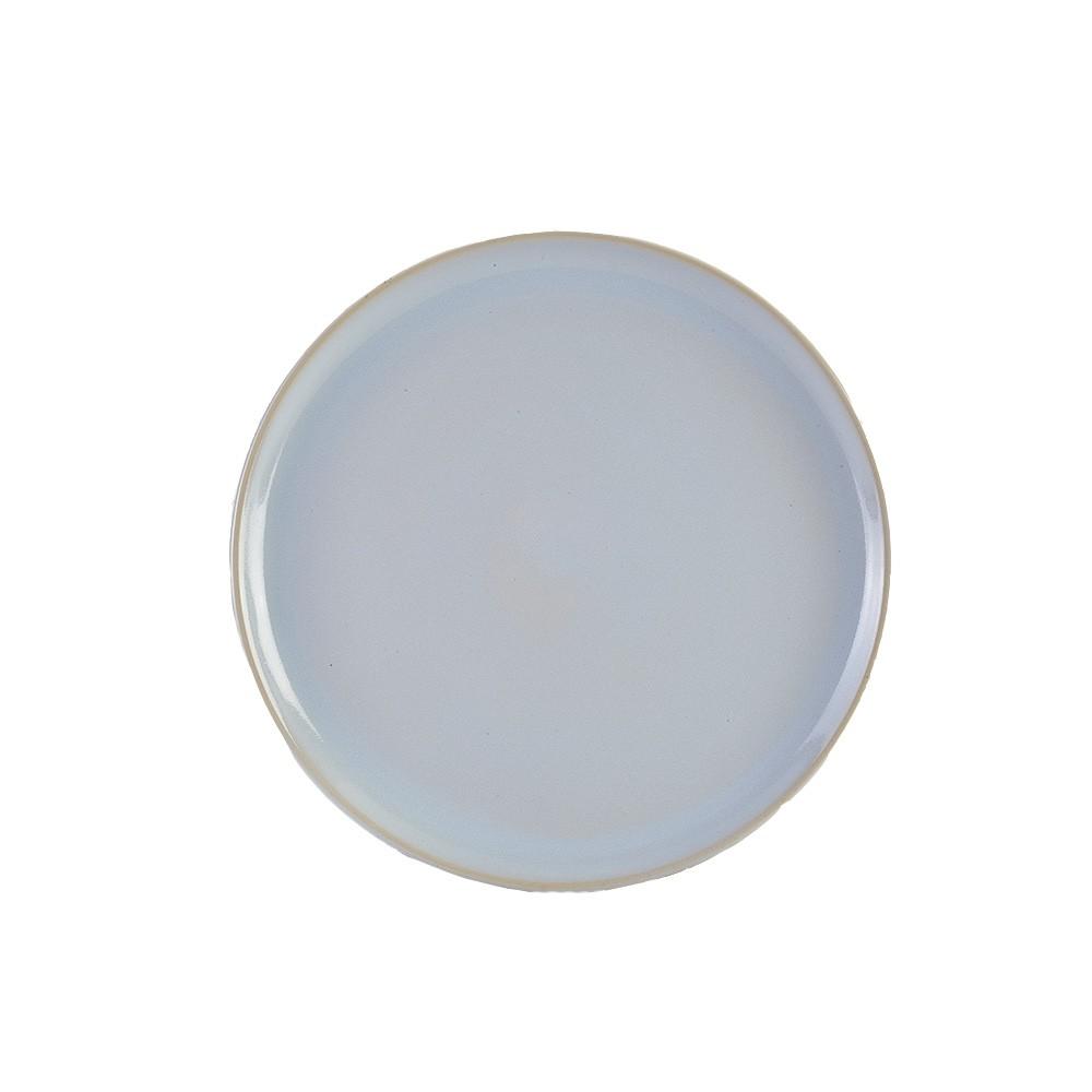 """Terra Stoneware Rustic Pizza Plate White 33.5cm-13.25"""""""