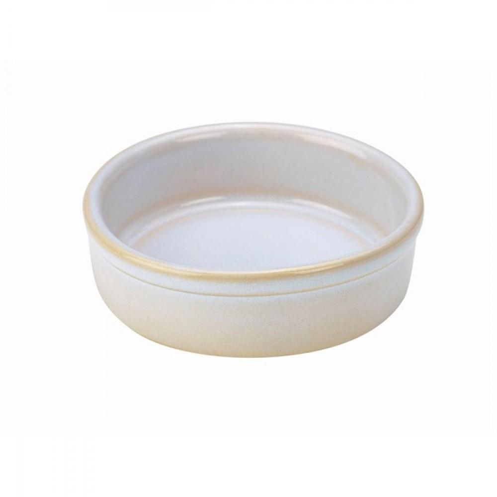 """Terra Stoneware Tapas Dish White 10cm-4"""""""