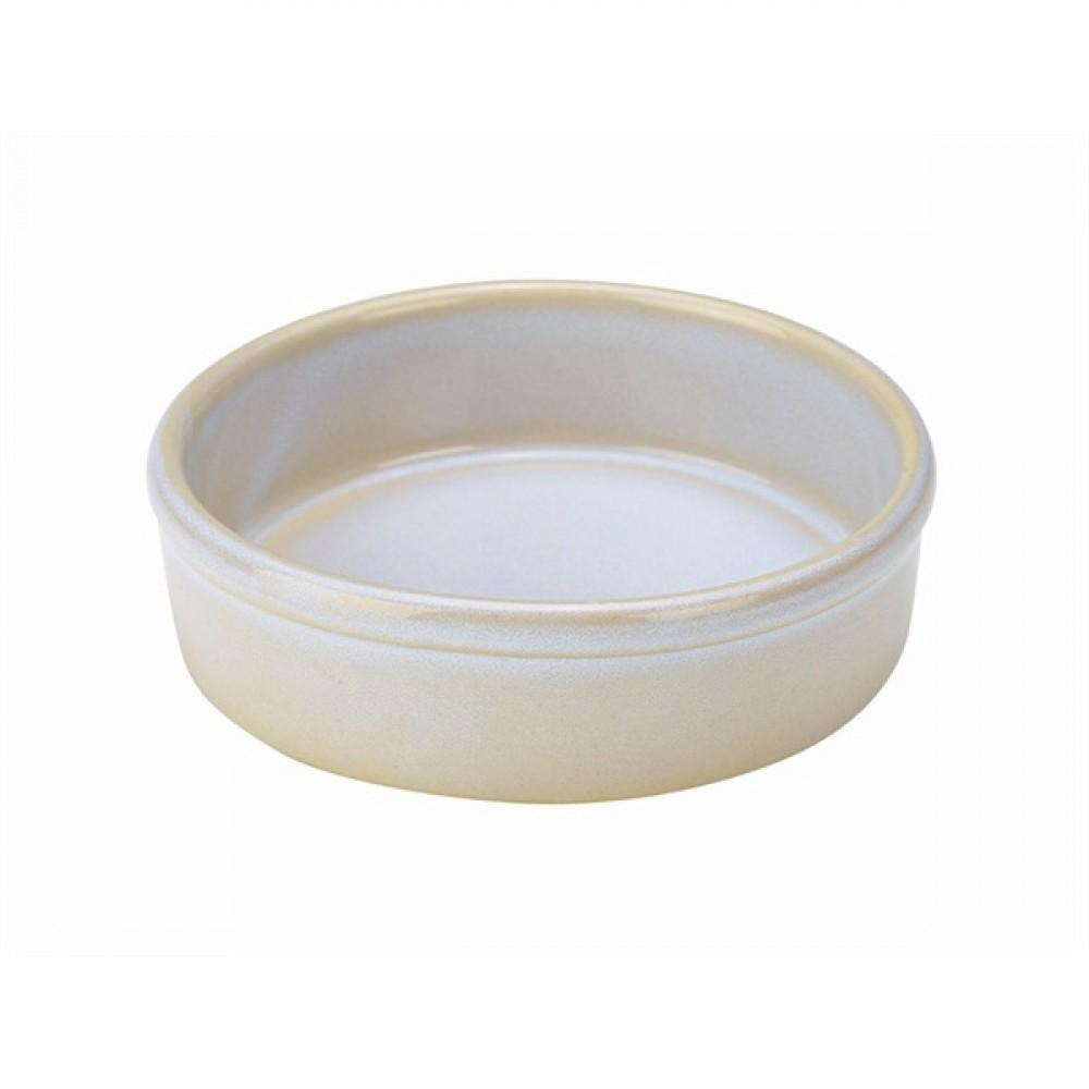 """Terra Stoneware Tapas Dish White 13cm-5.1"""""""