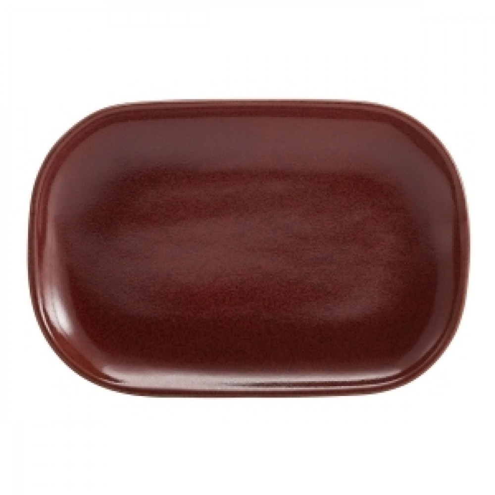 Terra Stoneware Rectangular Plate Red 24x16.5cm