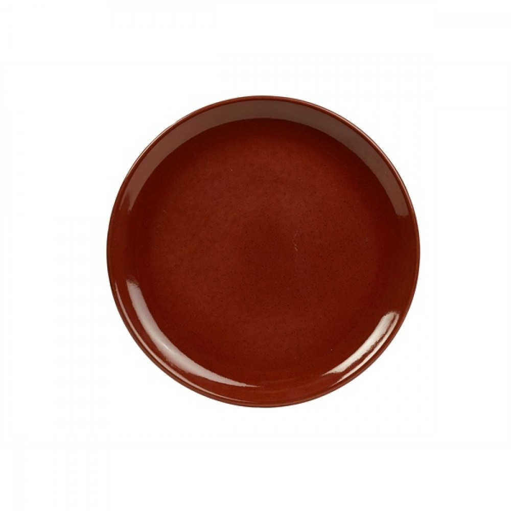 """Terra Stoneware Coupe Plate Red 27.5cm-10.8"""""""