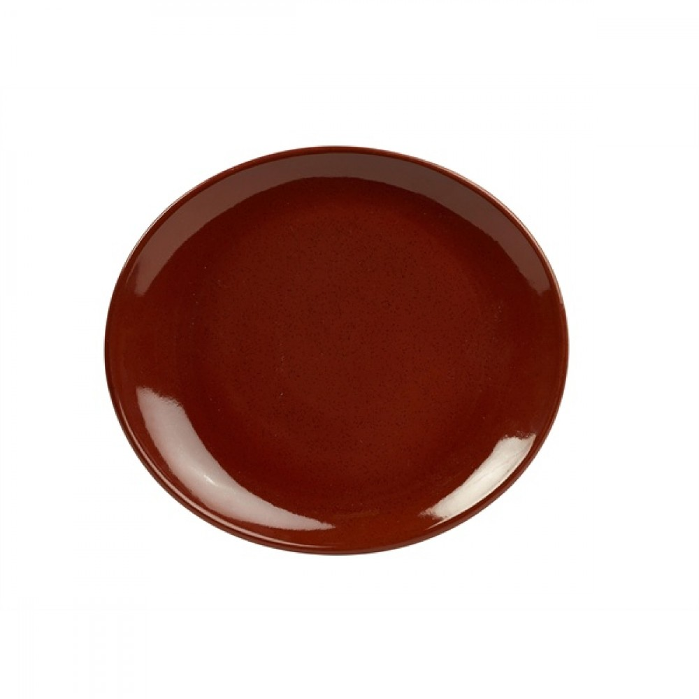 Terra Stoneware Oval Plate Red 21cm-8.25""
