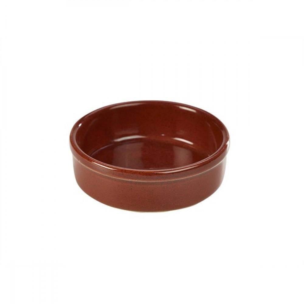 "Terra Stoneware Tapas Dish Red 13cm-5.1"""