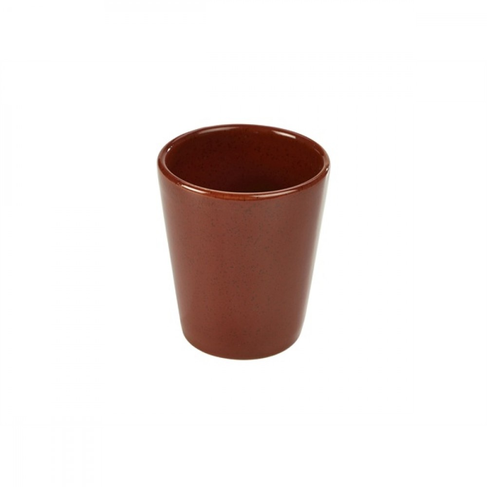 Terra Stoneware Conical Cup Red 10cm-4""